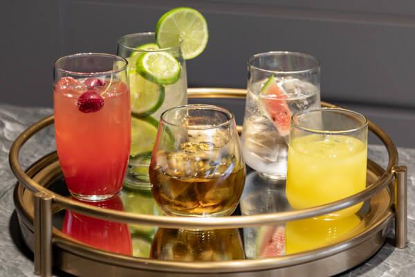 Copas y vasos para cócteles