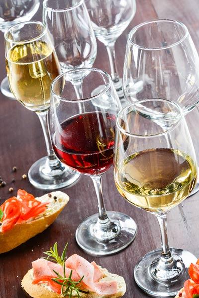 Copas y vasos para bar